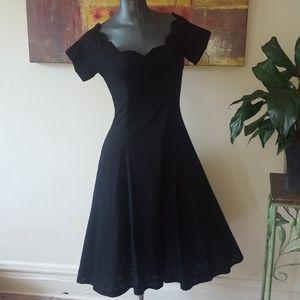 KAREN LUCAS 80's vintage black A-line dress